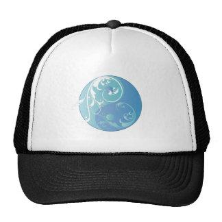 Movimiento en sentido vertical Yin y Yang (azules  Gorro De Camionero