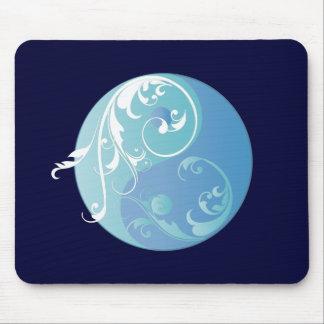 Movimiento en sentido vertical Yin y Yang (azules  Tapetes De Raton