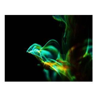 Movimiento/fluoresceína en agua postal