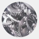 Movimiento industrial pegatina redonda