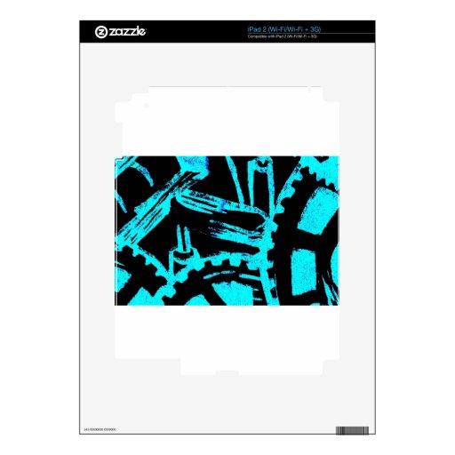 Movimiento industrioso calcomanías para el iPad 2