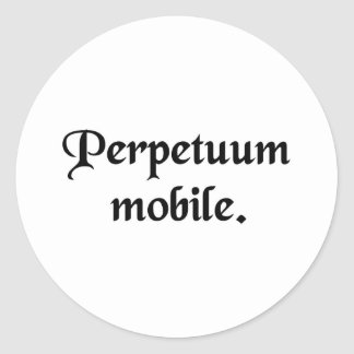 Movimiento perpetuo pegatina redonda
