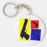 Movimiento primario de la pistola llaveros personalizados