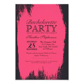 """Movimiento rosado de neón de la pintura en negro invitación 3.5"""" x 5"""""""