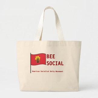 Movimiento socialista americano de la unidad bolsa tela grande