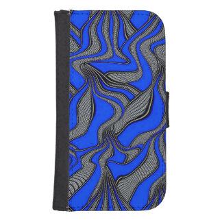 movimientos absurdos azules funda cartera para teléfono