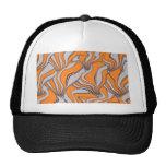 movimientos absurdos, naranja del remolino gorras de camionero