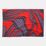 movimientos absurdos, negro rojo toallas