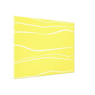 Movimientos amarillos del cepillo del w lona estirada galerias