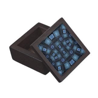 Movimientos azules caja de recuerdo de calidad