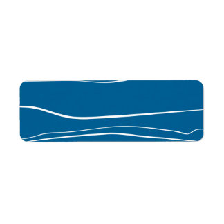 Movimientos azules del cepillo del w etiquetas de remite