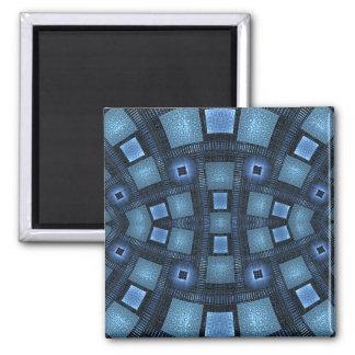 Movimientos azules imán cuadrado