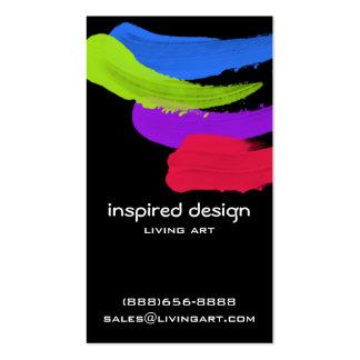 Movimientos brillantes de la pintura plantilla de tarjeta de visita