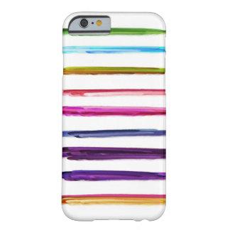 Movimientos coloridos abstractos de la brocha de funda de iPhone 6 barely there