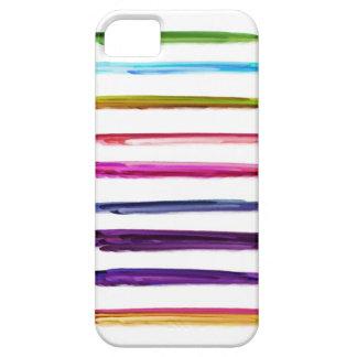 Movimientos coloridos abstractos de la brocha de l iPhone 5 Case-Mate coberturas