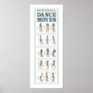 Movimientos de la danza de Dancehall Póster