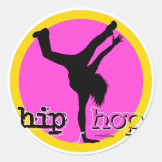 Movimientos de la danza de HIP HOP Pegatina Redonda
