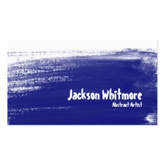 Movimientos de la pintura - azul plantillas de tarjetas de visita