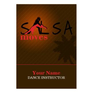 Movimientos de la salsa - negocio, tarjeta del hor tarjetas de visita