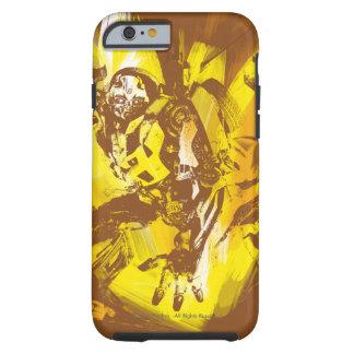 Movimientos estilizados de la pintura del abejorro funda resistente iPhone 6