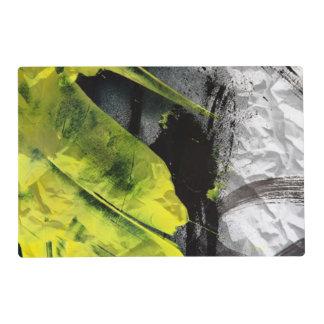 Movimientos expresivos del cepillo de la textura tapete individual