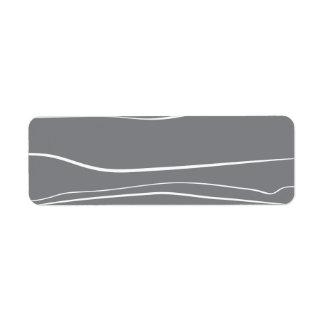 Movimientos grises del cepillo del w etiquetas de remite