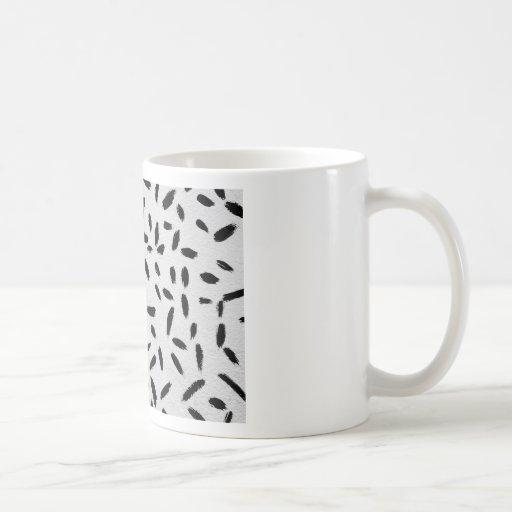movimientos negros de la pintura taza de café