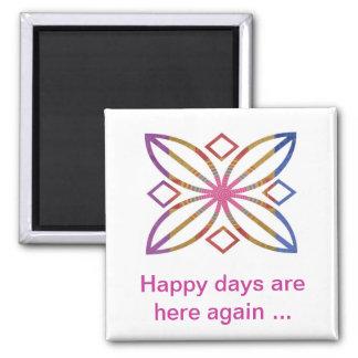 Movimientos positivos - diseños felices de la exhi iman de nevera