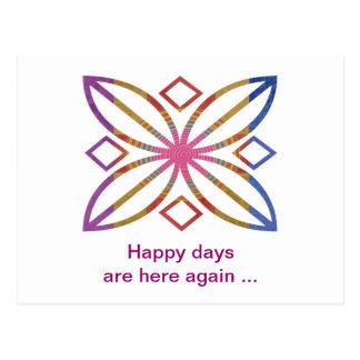 Movimientos positivos - diseños felices de la exhi tarjetas postales