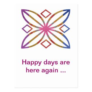 Movimientos positivos - diseños felices de la exhi postal