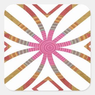 Movimientos positivos - diseños felices de la pegatina cuadrada
