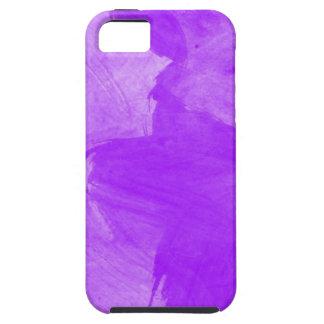 Movimientos púrpuras del cepillo de la acuarela iPhone 5 Case-Mate cárcasa