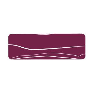 Movimientos púrpuras del cepillo del w etiquetas de remite