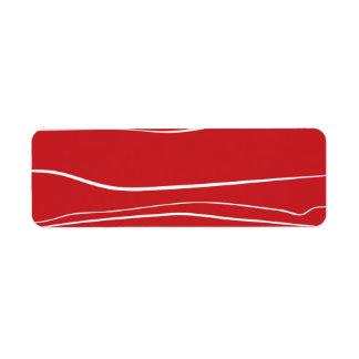 Movimientos rojos del cepillo del w etiqueta de remite