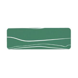 Movimientos verdes del cepillo del w etiqueta de remite