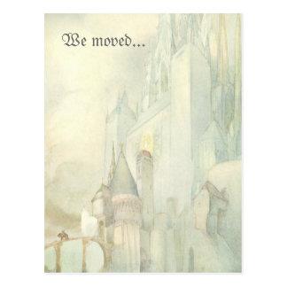 Movimos el castillo de la fantasía del vintage del postales