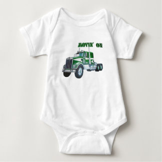 Movin' On Kenworth Baby Bodysuit