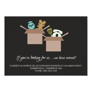 Moving Announcement - Cardboard Boxes Graphics