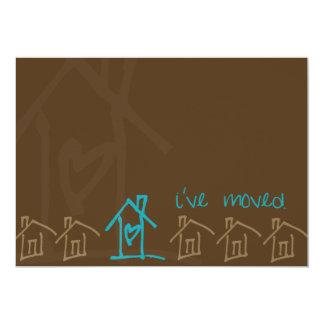 "Moving Announcement 5"" X 7"" Invitation Card"