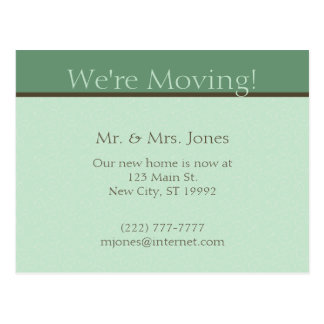Moving Announcement Post Card