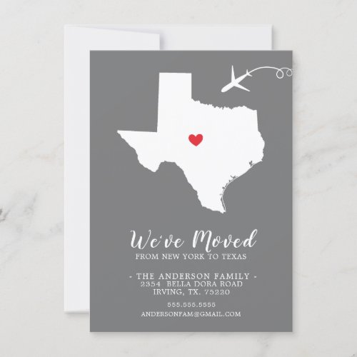 Moving Announcement  State TEXAS
