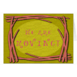Moving Announcement template Stationery Note Card