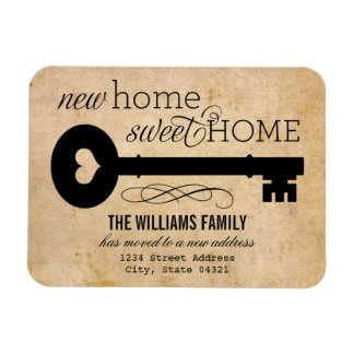 Moving Announcements | New Home Sweet Home Rectangular Photo Magnet