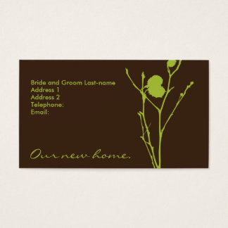 MOVING ANOUNCEMENT1: FIG & DEEP CHOCOLATE BUSINESS CARD