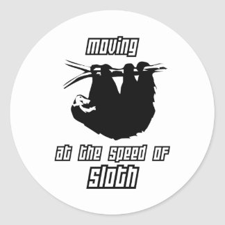 Moving at the Speed of Sloth Classic Round Sticker