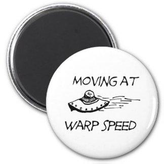 Moving At Warp Speed 2 Inch Round Magnet