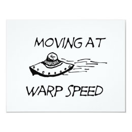 Moving At Warp Speed Card