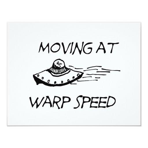 Moving At Warp Speed 4.25x5.5 Paper Invitation Card