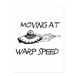 Moving At Warp Speed Postcard