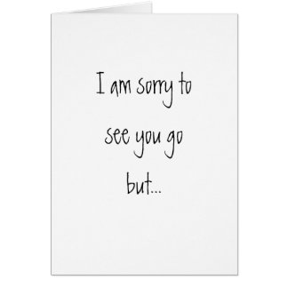 Moving Away Card